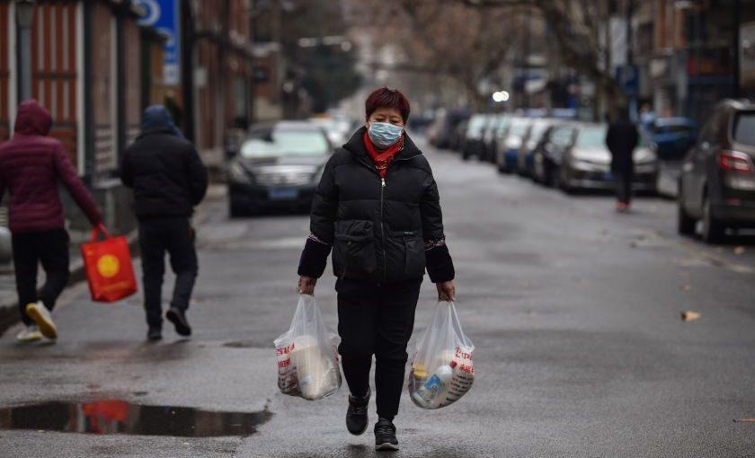 Els carrers buits de Wuhan